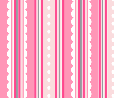 rayure rose fabric by nadja_petremand on Spoonflower - custom fabric