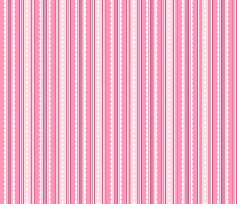 rayure rose S fabric by nadja_petremand on Spoonflower - custom fabric
