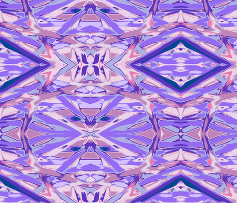 Aztec Mod - Plum fabric by leahvanlutz on Spoonflower - custom fabric