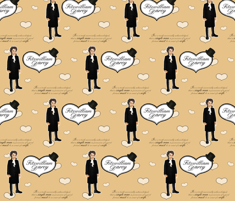 Oh, Mr Darcy! fabric by littleliteraryclassics on Spoonflower - custom fabric