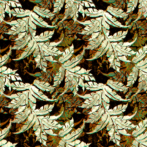 Bark Cloth Leaves  fabric by joanmclemore on Spoonflower - custom fabric