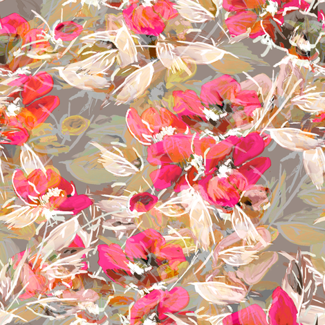 Rockabilly Rose Cocktail Dress fabric by joanmclemore on Spoonflower - custom fabric