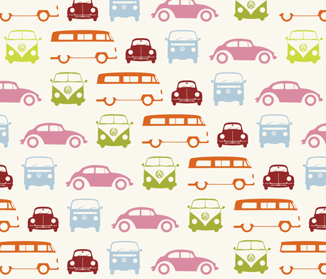 Campers & Beetles fabric by dogsndubs on Spoonflower - custom fabric