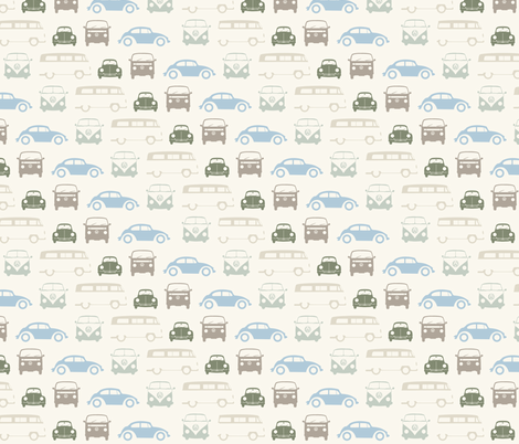 Campers & Beetles fabric by marcdoyle on Spoonflower - custom fabric