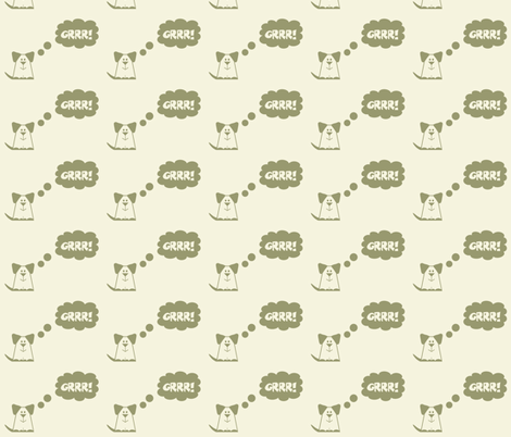 GRRR fabric by dogsndubs on Spoonflower - custom fabric