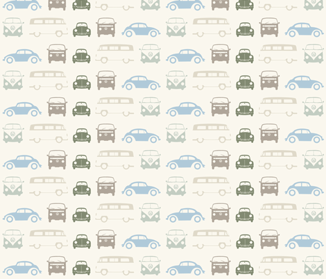 Campers & Beetles - Back & Forth fabric by sterikal on Spoonflower - custom fabric