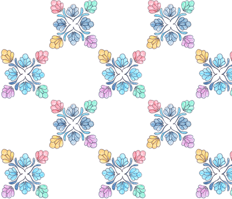 flower repeat fabric by hollyakkerman on Spoonflower - custom fabric