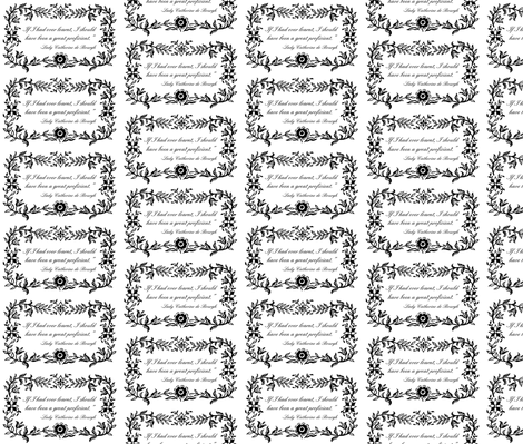 Lady Catherine de Bourgh -A Great Proficient fabric by littleliteraryclassics on Spoonflower - custom fabric