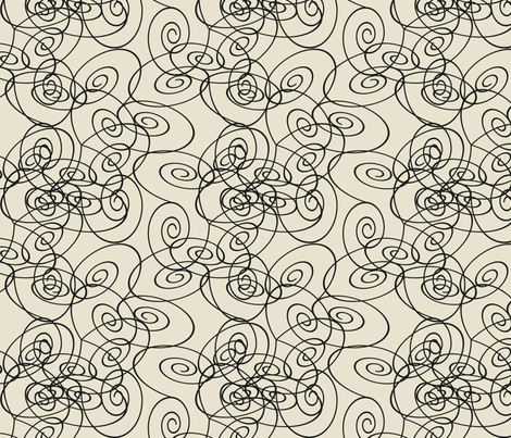 Spirals - black fabric by maplewooddesignstudio on Spoonflower - custom fabric