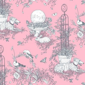 Pink and Gray Garden Toile Small ©2011 by Jane Walker