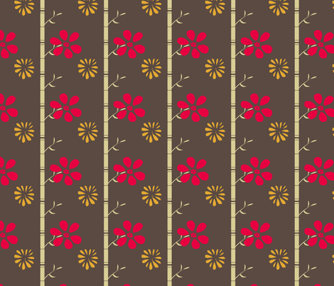Hibiscus Lounge  fabric by kimannjac on Spoonflower - custom fabric
