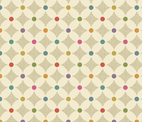 Carnival Dots Light fabric by littlerhodydesign on Spoonflower - custom fabric
