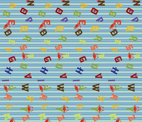 ABC Stripe fabric by cksstudio80 on Spoonflower - custom fabric