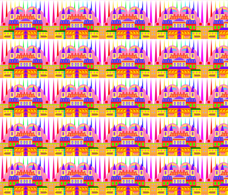 RAINBOW CITY fabric by bluevelvet on Spoonflower - custom fabric