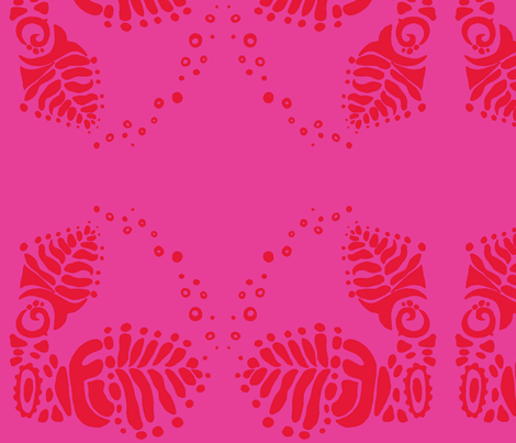 trog_leaves-red n pink fabric by kcs on Spoonflower - custom fabric