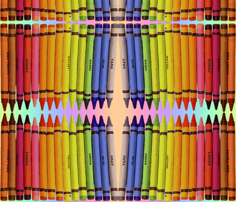 RAINBOW CRAYONS fabric by bluevelvet on Spoonflower - custom fabric