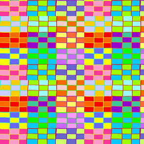 RAINBOW CHECKERBOARD