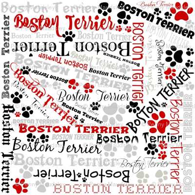 BOSTON TERRIER CRAZY QUILT