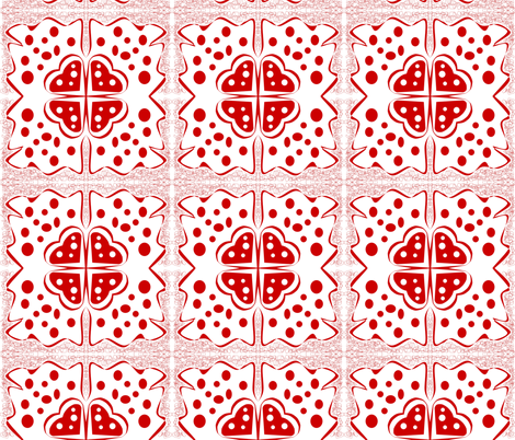 Red Lace fabric by sewbiznes on Spoonflower - custom fabric