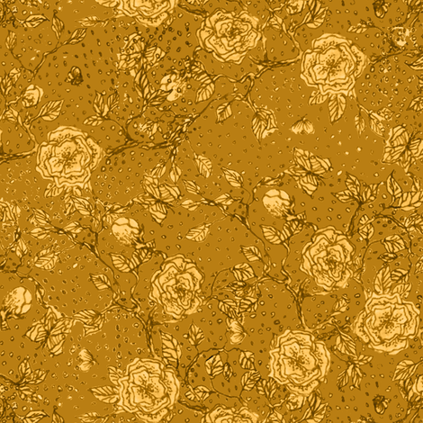Memories of an Old Rose - tea fabric by glimmericks on Spoonflower - custom fabric