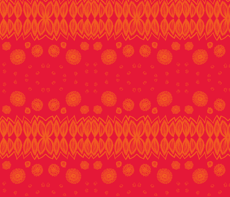 multi_pattern-orange & red fabric by kcs on Spoonflower - custom fabric