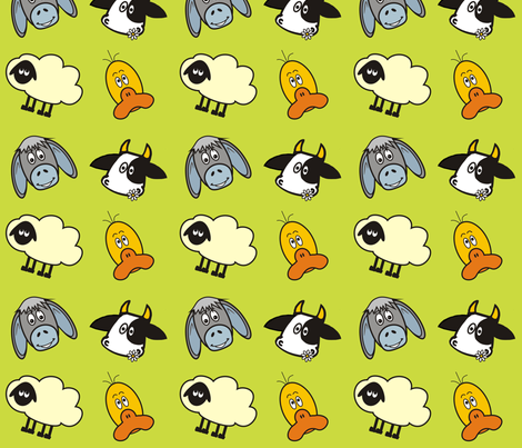 On the Farm fabric by dogsndubs on Spoonflower - custom fabric