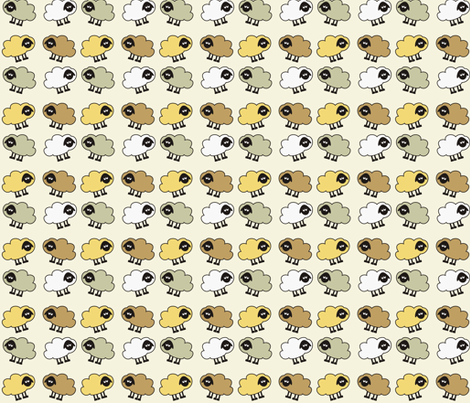 Sheep fabric by dogsndubs on Spoonflower - custom fabric