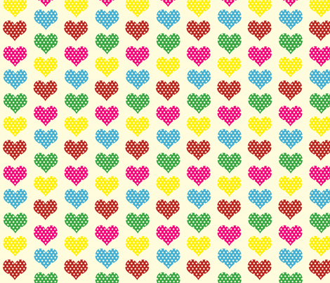 Polka Dot Hearts fabric by anikabee on Spoonflower - custom fabric