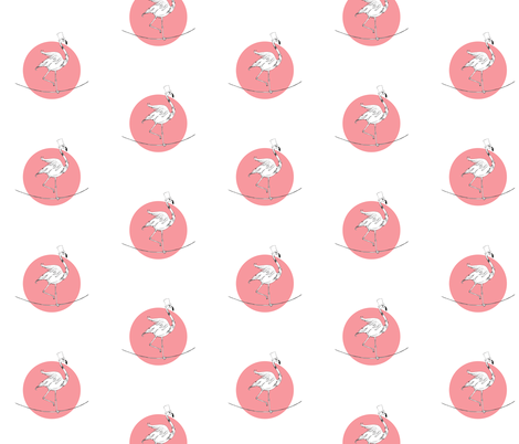 flamingo fabric by studiojelien on Spoonflower - custom fabric