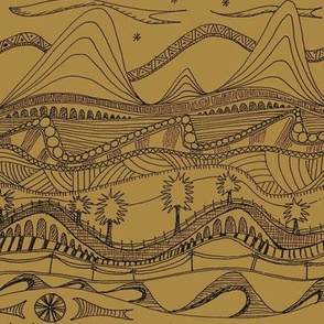 sketchbook landscape brown paper
