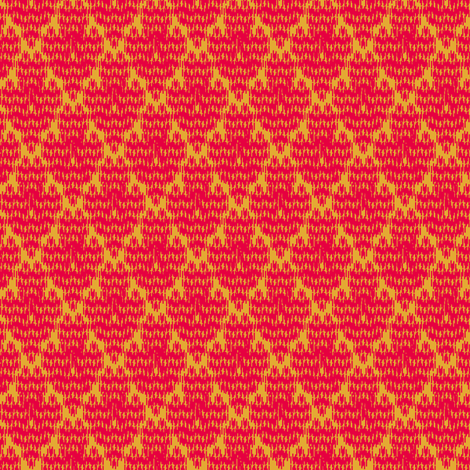 retro diamond ikat fabric by meredithjean on Spoonflower - custom fabric