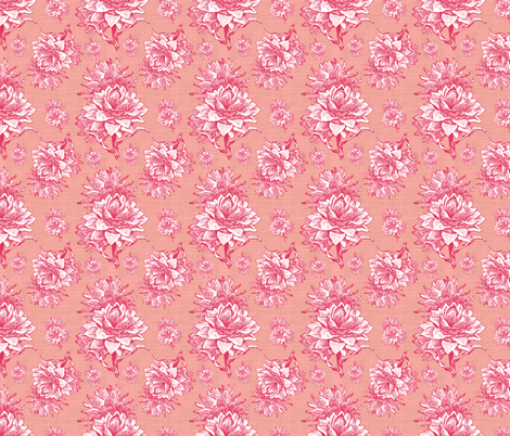 Artichoktica Rosa fabric by brainsarepretty on Spoonflower - custom fabric