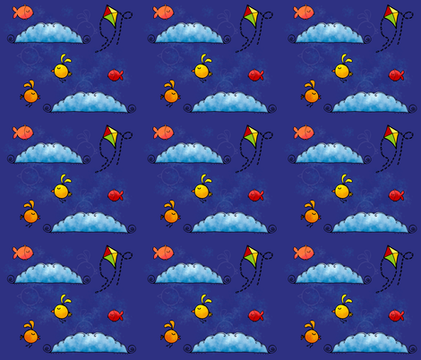 fish_and_birds fabric by padeshahoo on Spoonflower - custom fabric