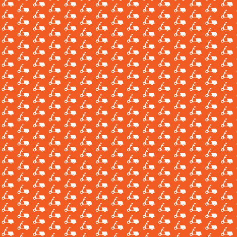Itsy Bitsy Scooters Tangerine fabric by natitys on Spoonflower - custom fabric