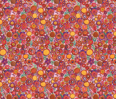 flowers fabric by jodysart on Spoonflower - custom fabric