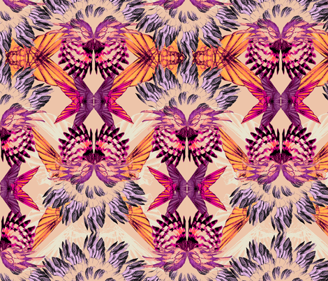 KALEIDOSCOPE_WINGS_CORAL fabric by pattern_state on Spoonflower - custom fabric
