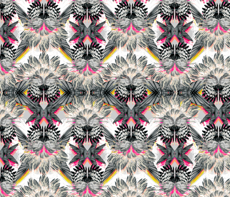 KALEIDOSCOPE_WINGS_NEON fabric by pattern_state on Spoonflower - custom fabric