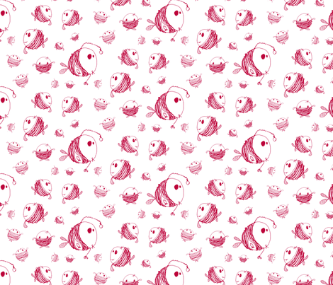fish fabric by sleepandhersisters on Spoonflower - custom fabric