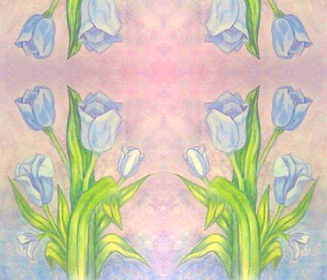 watercolor_tulips fabric by marzlene'z_eye_candy on Spoonflower - custom fabric
