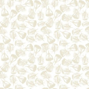 Feather Fab: Linen on White