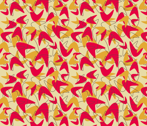 retro kitchen coordinate fabric by blue_jelly_designs on Spoonflower - custom fabric
