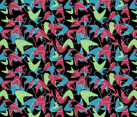retro kitchen coordinate 2 fabric by blue_jelly_designs on Spoonflower - custom fabric