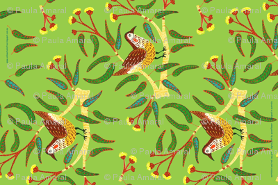 Wattle Bird Tea Towel