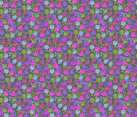 Roses (purple) fabric by biancagreen on Spoonflower - custom fabric