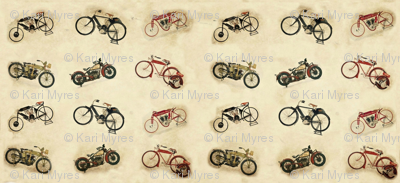 6 little Indian bikes no logo