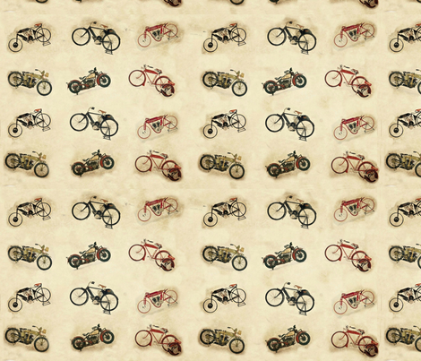 6 little Indian bikes no logo fabric by kari's_place on Spoonflower - custom fabric