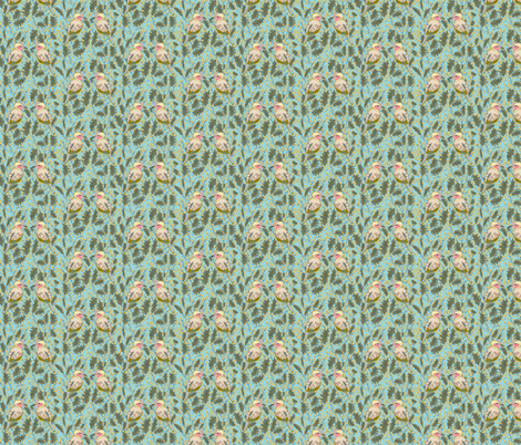 Birds & Berries fabric by friedahor on Spoonflower - custom fabric
