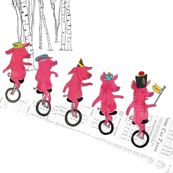 Unicycling piglets