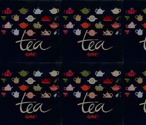 TEA 4 ME! fabric by victoriavisions on Spoonflower - custom fabric