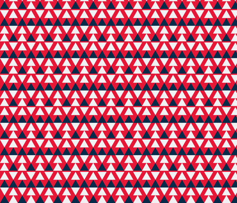 Blue & Red Triangles fabric by stoflab on Spoonflower - custom fabric